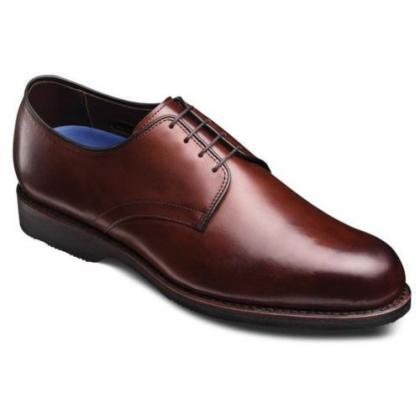 Handmade Brown Leather Derby Oxfor..