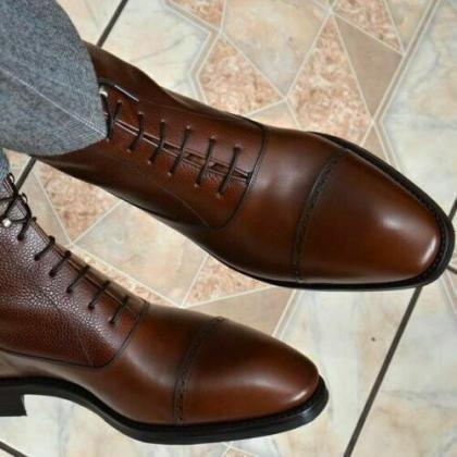 Handmade Men's Leather dress boots ..