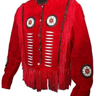 Handmade Red Cowboy Western Wear Su..