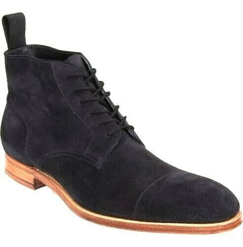 Leather Jodhpur Boots for Men Handmade Black Suede Made to Order Men
