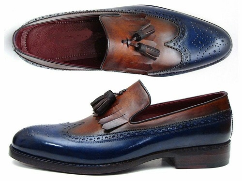 New Handmade Dress Leather Loafers for Men Custom Two Tone Gland