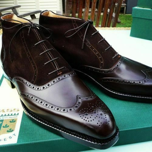 Handmade Black leather formal shoes for men bespoke leather shoes custom made