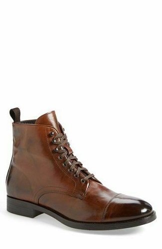 Handmade Leather Man Brown Ankle Custom High Boots Man Boots