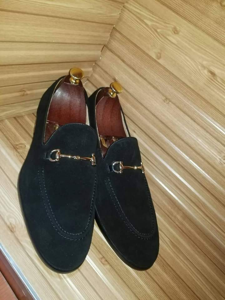 Handmade Best Suede Leather Loafers Shoes For Men