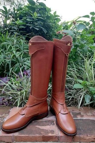 High Brown Leather High Quality Custom Made Riding Boots