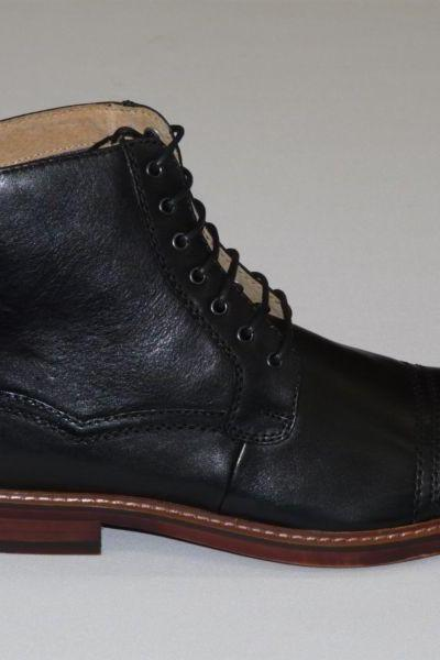 Handmade Custom men Black Ankle high leather boots, Men's real leather boot Custom Handmade