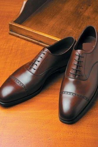 New Handmade Men formal Shoes Men brown Oxford Shoes, Handmade Men dress shoes, Custom made Leather shoes