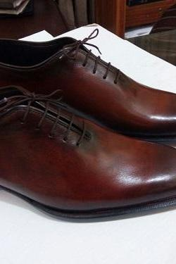 New Handmade Men brown formal shoes, Custom made Men dress shoes, Men leather shoes, Mens shoes