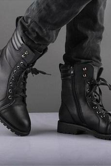 New Men Black Military Style Boot, Men Combat Boot, Men Winter Boot, Mens military style Boot