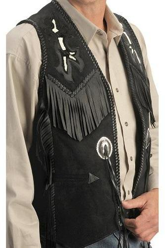Men's black leather vest jacket high quality suede leather fashion jacket
