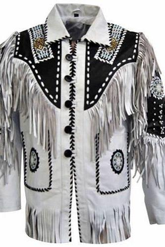 Handmade Men's Western Suede Leather Wear Cowboy Native American Set DE