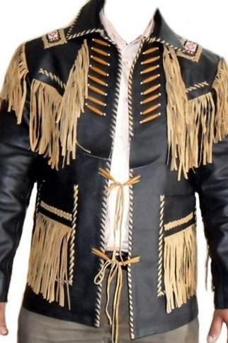Handmade New Men's Western Suede Leather Wear Cowboy Native American Set