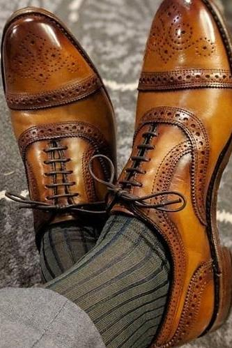 New Handmade Men's Leather & Suede Oxford,Men Dress Fashion Shoes