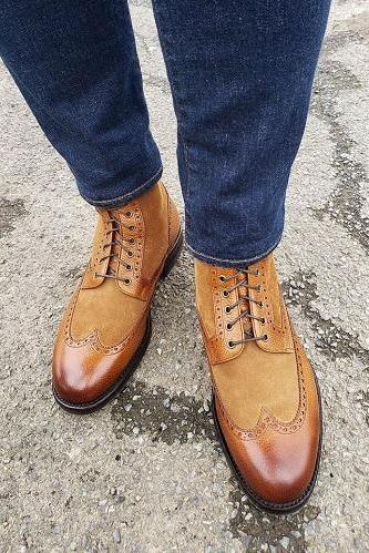 Handmade Ankle High Best Dress Formal Leather Boots Custom Made Boots For Men