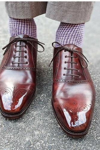 Handmade Men's Best Leather Oxfords Shoes For Men