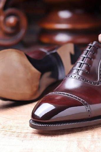 Men's Handmade Best Dark Brown Formal Leather Shoes For Men