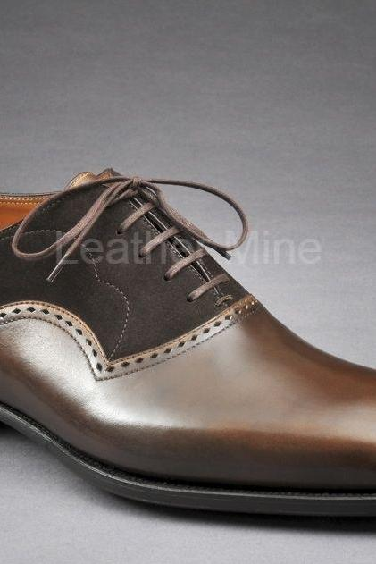 Men's Handmade Leather Shoes, Genuine Leather Men's Dress Shoes