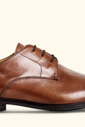 Derby Leather Shoes Men, Handmade Brown Derby Genuine Leather Shoes Men
